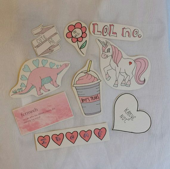 Cute pastel tumblr sketch stickers by Inamazefashion on ...