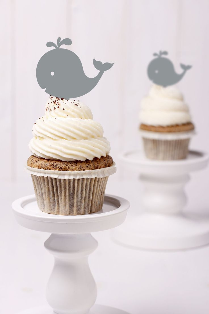 New to ChicagoFactory on Etsy: Whale Cupcake Topper- (S257) (2.00 USD)