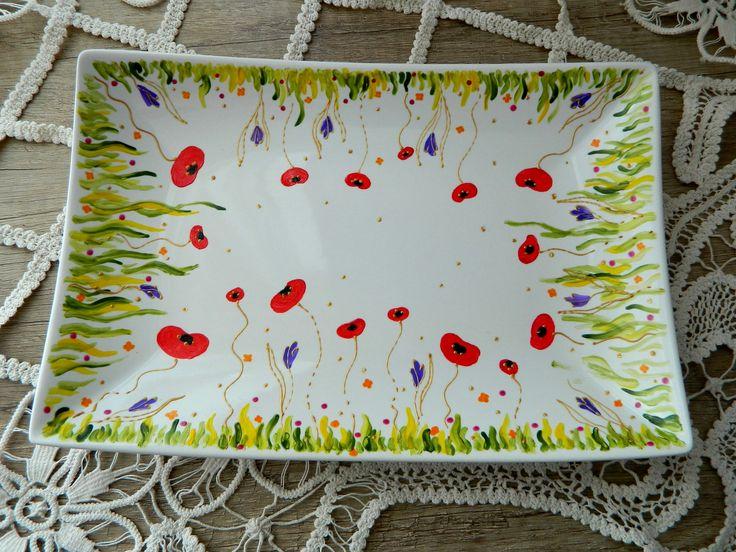 Hand painted poppy field!