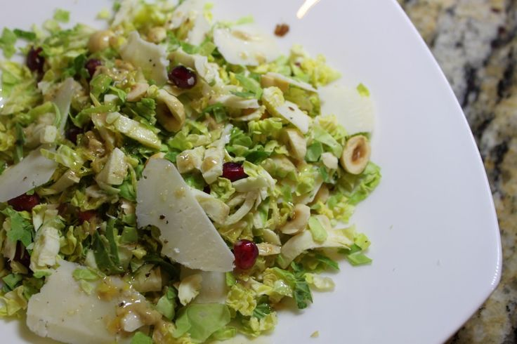 brussels sprout slaw with hazelnuts and pomegranate hazelnuts ...