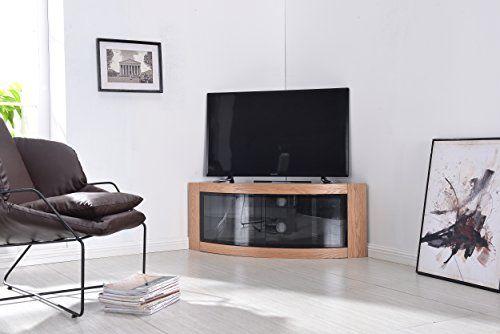 Centurion Supports Meuble TV Pangea Beam-thru incurvé d\'angle 81,3 ...
