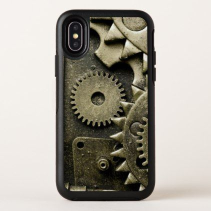 Antique Mechanical Gears Manly OtterBox Symmetry iPhone X Case - antique gifts stylish cool diy custom