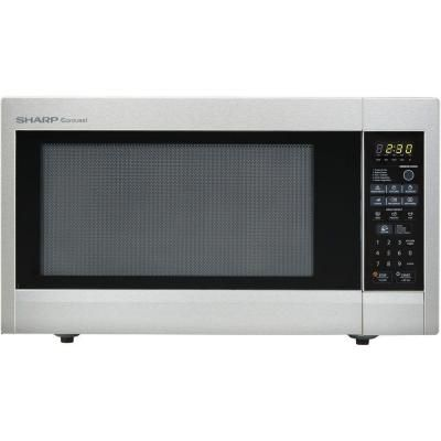 Sharp Carousel 2.2 cu. ft. 1200 Watt Countertop Microwave in Stainless Steel with Sensor Cooking-R651ZS - The Home Depot
