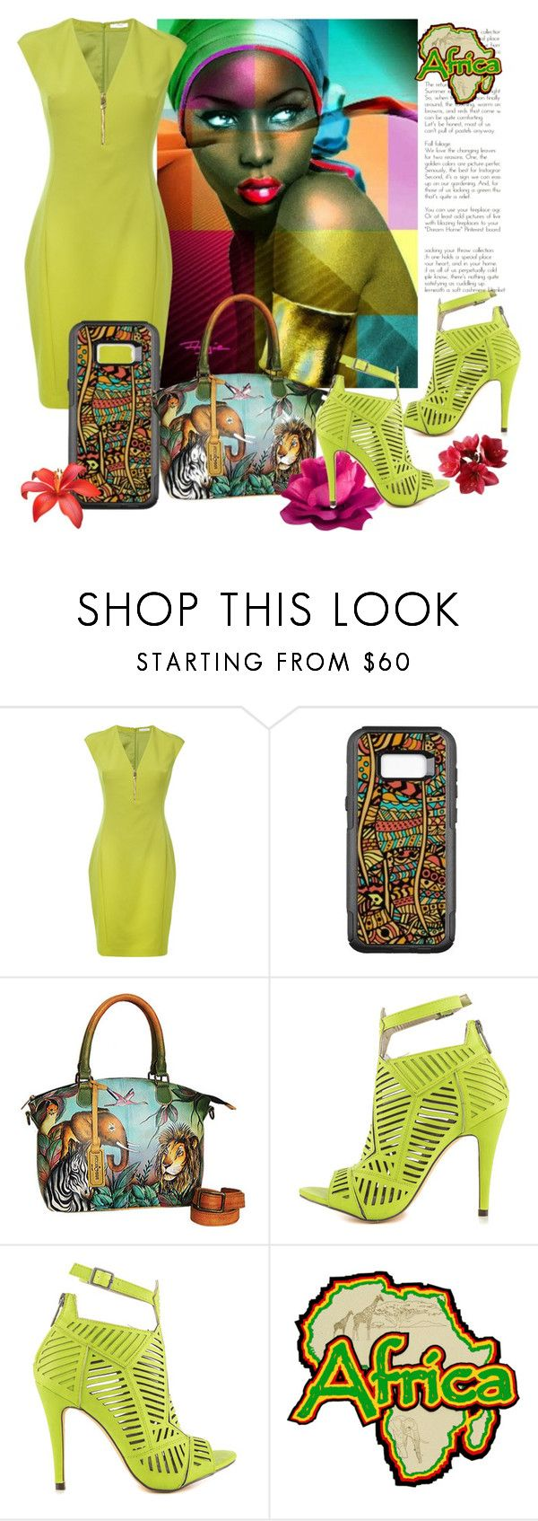 """""""African Fashion"""" by personaleffects ❤ liked on Polyvore featuring Braun, Versace, Anuschka and Michael Antonio"""