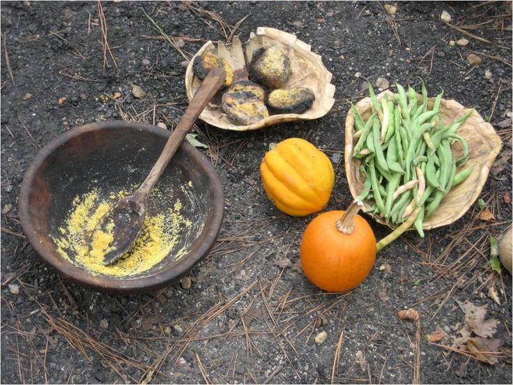 JAMESTOWN SETTLEMENT: Corn cakes, squash and beans were ...  JAMESTOWN SETTL...