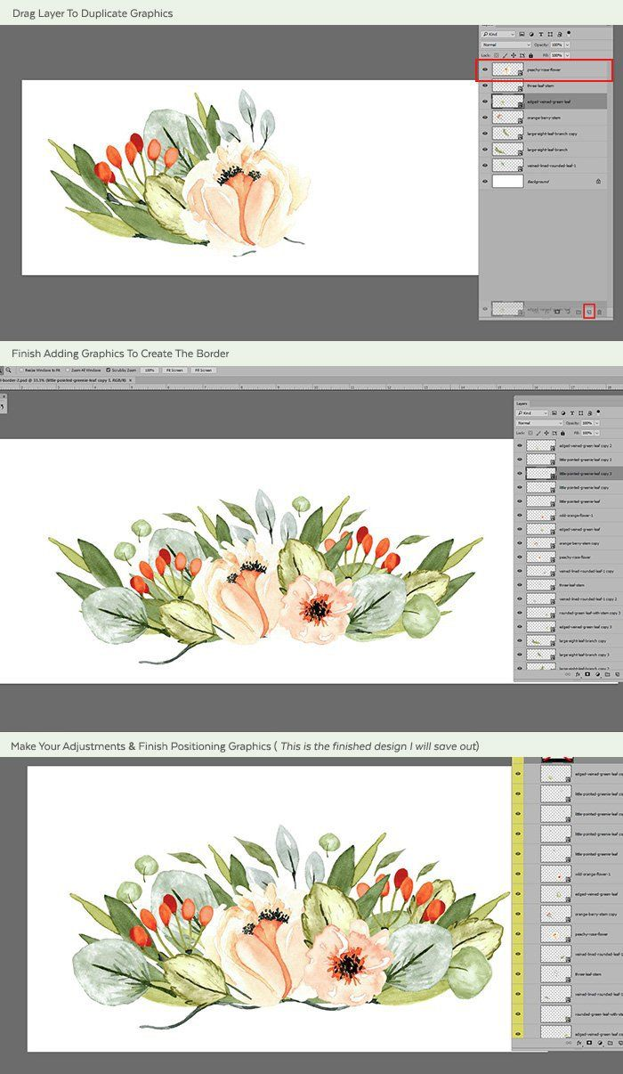 Watercolor Border Photoshop Tutorial Photoshop Tutorial