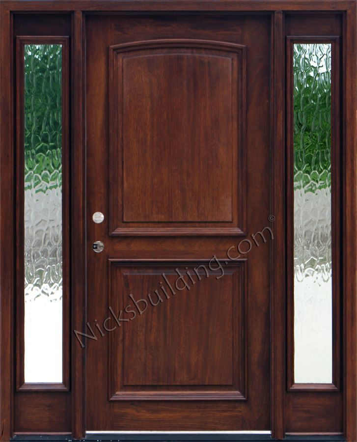 17 best images about entrance door on pinterest front for Wood doors with sidelights