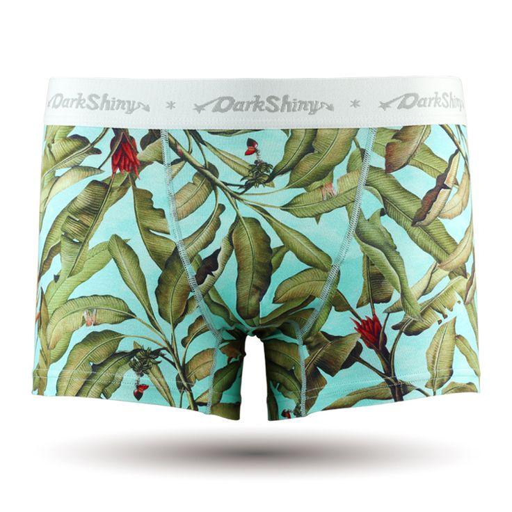 Blue Leave/メンズ/ボタニカル/植物/エンジェルブルー/メンズファッション アンダーウェア ボクサーパンツ #darkshiny #mensfashion #boxerbrief #underwear