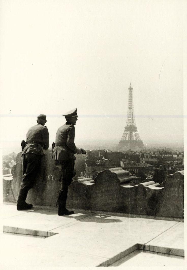 German officers in Paris, France