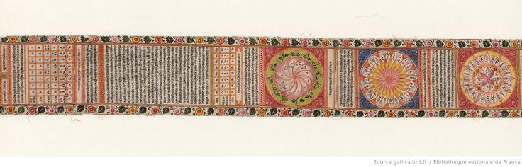 Horoscope d'un enfant né le deuxième jour du mois de Jyeṣṭha, en l'an 1684 de l'ère śāka [= 1761 de l'ère commune] | Gallica