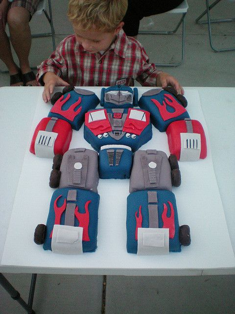 Transformers Birthday Cake 2 by The Custom Art Project, via Flickr