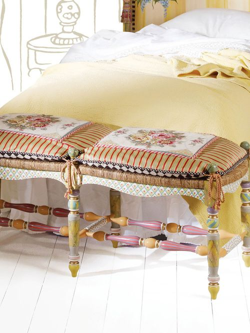 Eclectic Bedroom Benches, Eclectic Bedroom Products, Eclectic Bedrooms,  Settee Cushions, Upholstered Bench, Bedroom Art, Flower Baskets, Settees,  ...
