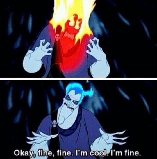 I'm cool. I'm fine.