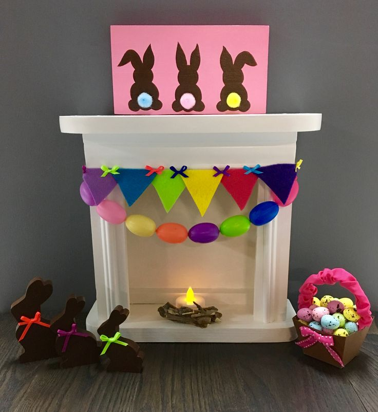 Doll Fireplace Easter