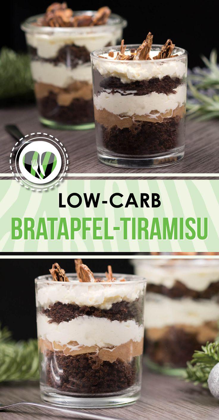 Das Bratapfel-Tiramisu ist lecker, low-carb, glutenfrei und ohne zugesetzten Zucker.