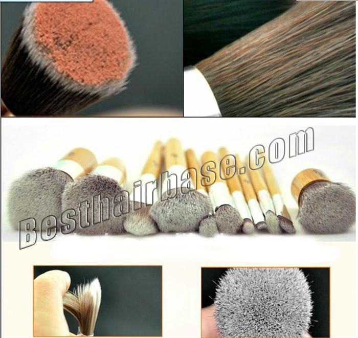 11 Pcs Natural And Anti-microbial Artificial Fibre Brush Set