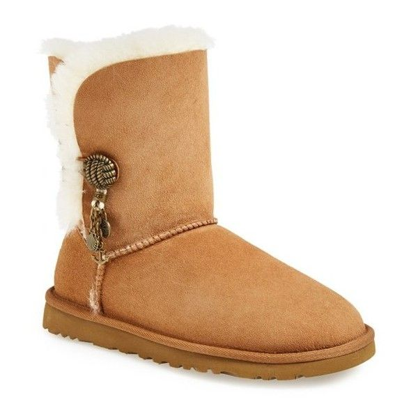 Women's UGG Australia 'Briana' Charm Boot ($170) ❤ liked on Polyvore featuring shoes, boots, ugg australia, nautical shoes, cuffed boots, ugg® australia shoes and cuff boots