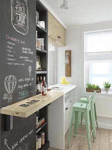INT2architecture cocina con barra cocina pequeña