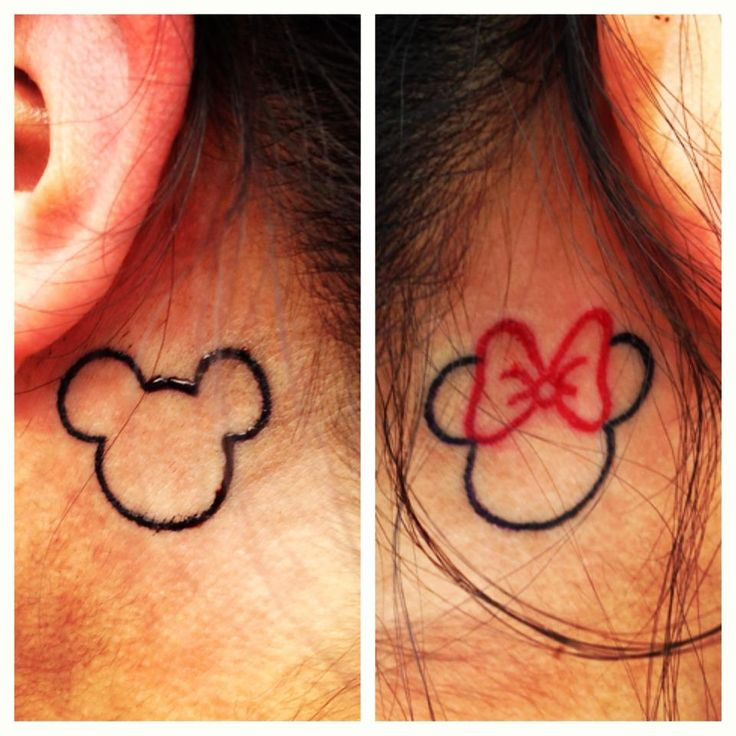 these tattoos represent all things disney for me,bc i'll always be a kid at heart(:  I got my mickey and minnie tattoos in Ventura, California by Bryan  he did an amazing job!