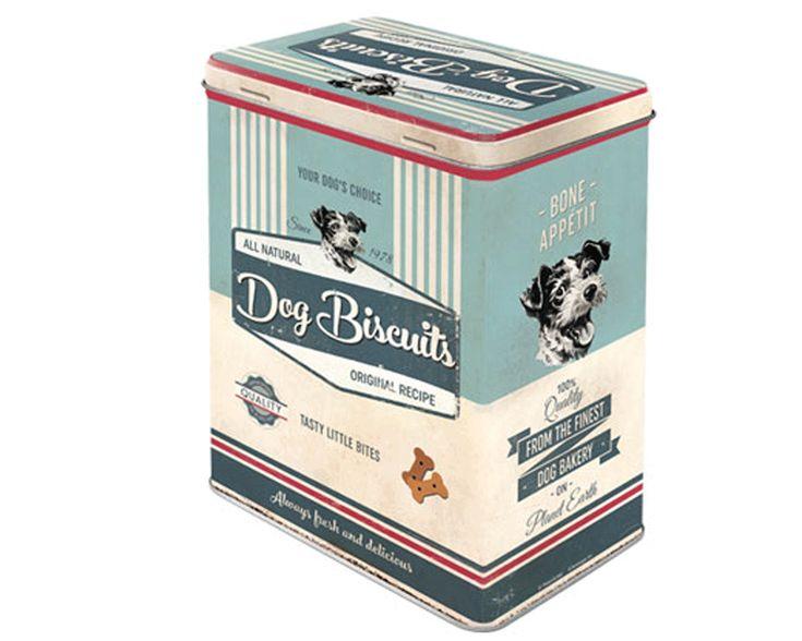 Plåtburk för hundgodis DOG BISCUITS
