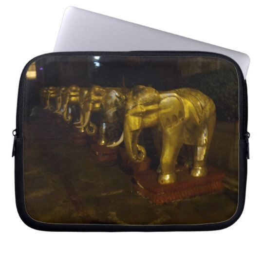 #zazzle  #Neoprene #Laptop #Sleeve #10 inch #office #home #travel #gift #giftidea #Elephants