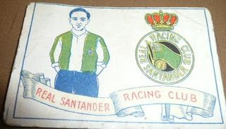 Real Santander Racing Club. Temporada 1928-29. Cromos Amatler.