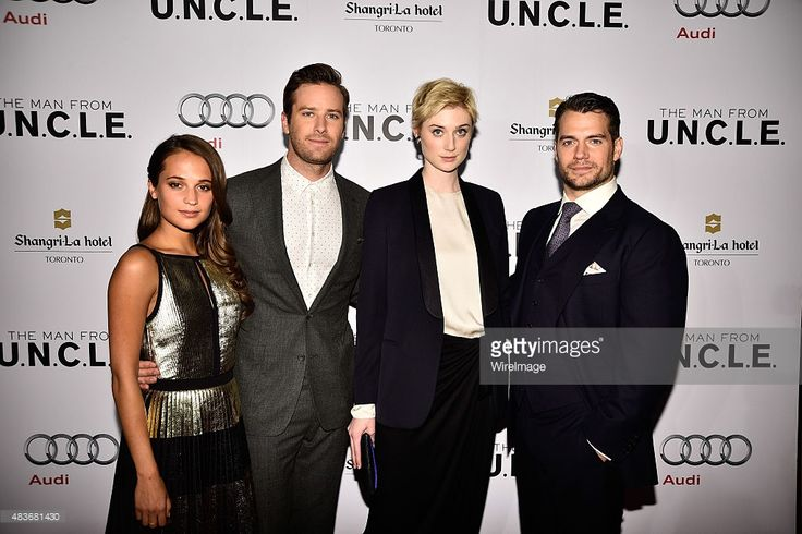 Alicia Vikander, Armie Hammer, Elizabeth Debicki and Henry Cavill attend Warner Bros. Pictures Canada and Audi Canada host a private cocktail reception for the Canadian premiere of 'The Man From U.N.C.L.E.' at Shangri-La Hotel on August 11, 2015 in Toronto, Canada.