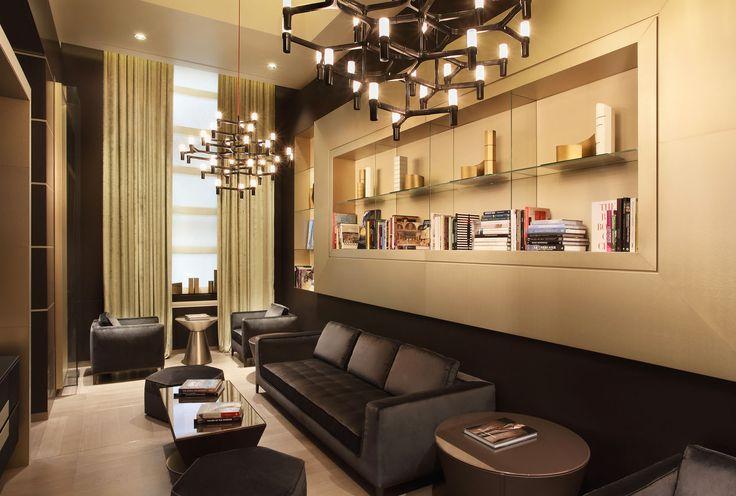 Hotel Gallia torna a splendere con l'impianto elettrico della serie Idea di Vimar. Sala lettura.