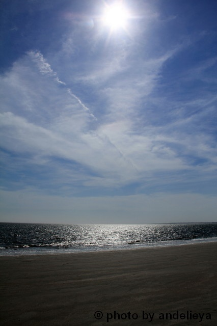 A beautiful sandy beach on the Atlantic Ocean, Isles of Palms, SC