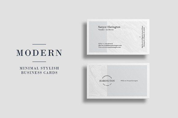 Minimal Creative Business Card Business Cards Creative Business Card Photoshop Minimal Business Card