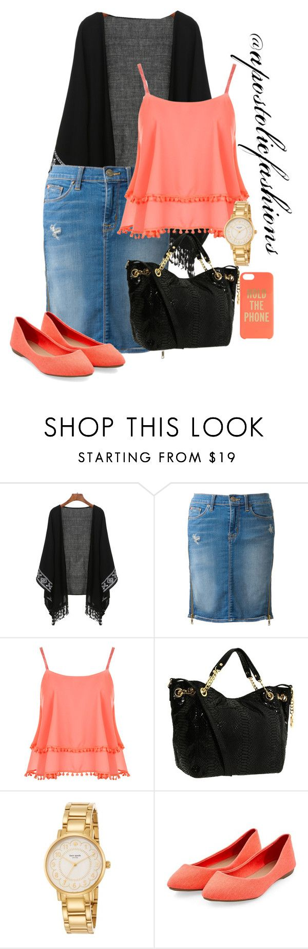 """Apostolic Fashions #1348"" by apostolicfashions on Polyvore featuring Hudson, WearAll, MICHAEL Michael Kors and Kate Spade"