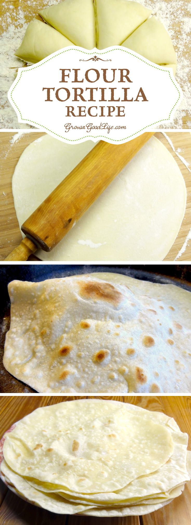 You need just four basic ingredients to make this flour tortilla recipe. Making homemade tortillas is worth the extra effort because they do taste so much better than store bought tortillas with no additives. Try this simple homemade flour tortilla recipe and you will know exactly what ingredients you will be eating.