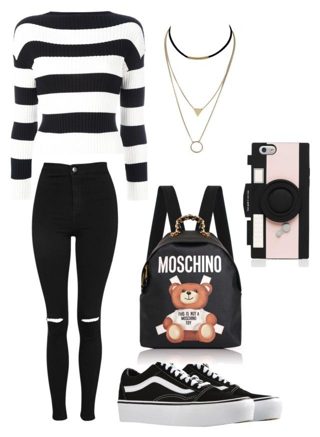 Demonia by niko-arce-olate on Polyvore featuring polyvore, fashion, style, Boutique Moschino, Topshop, Vans, Moschino, Kate Spade and clothing