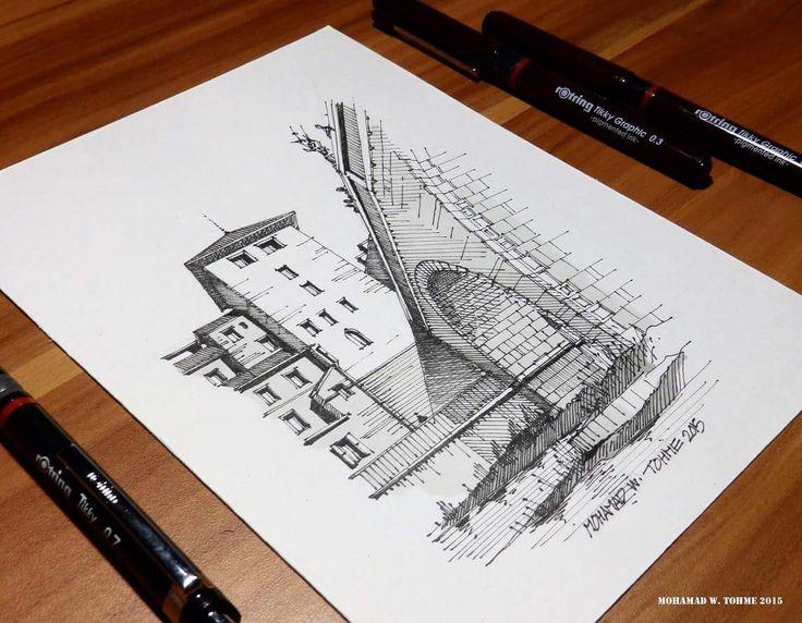 Rotring pen sketch