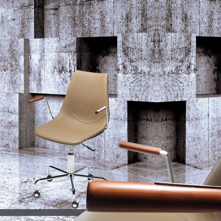 CROSS Office Chair - Beige art. leather w. chrome base