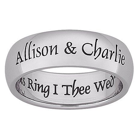 with this ring i thee wed personalized wedding band - With This Ring I Thee Wed