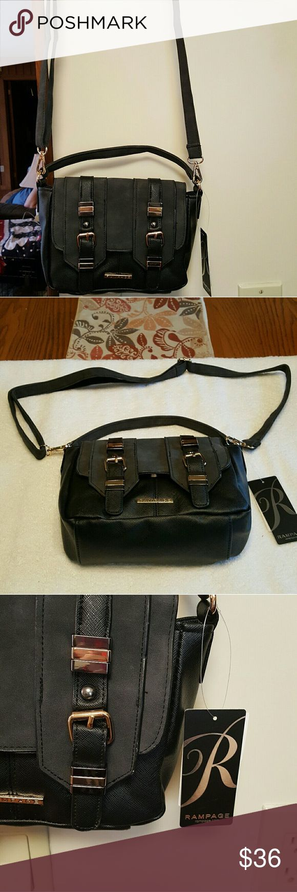 NWT Small crossbows bag This is a brand new small crossbody purse by Rampage it is made of man-made materials but it's cute as a button Rampage Bags Mini Bags
