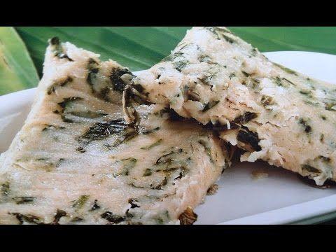 Tamales de acelgas con queso / Receta de tamales con queso - YouTube