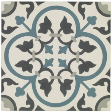St Etienne - Patterned & Decorated - Shop by colour - Wall & Floor Tiles | Fired Earth