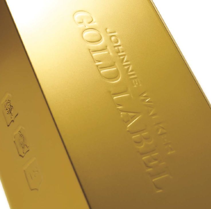 Gold. Johnnie Walker. Debossing. Drinks. Secondary Packaging. ⋈yer