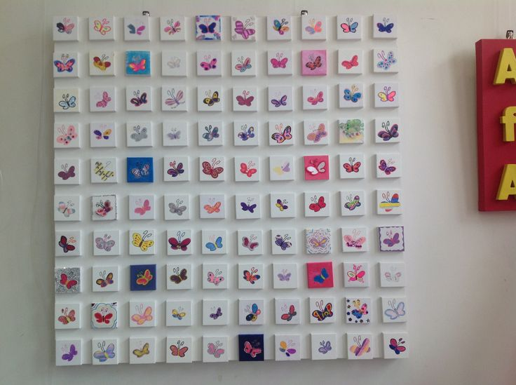 'Butterflies of Hope' - This large art work of 10 x 10 rows of mini canvases of individually painted butterflies has been created by people who have had a connection with the Charity over the past ten years.  The overall result is inspiring and thought provoking.