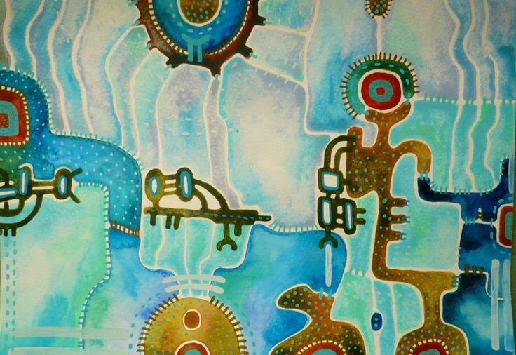 Pout' Obraz pochází z nové kolekce obrazů vytvořených kombinovanou technikou, kterou jsme si upravila sobě na míru. Od kresby oblíbenými akvarelovými pastely jsem došla ke klasickému akvarelu. Akvarelové barvy jsou zkombinovány s akvarelovým pastelem, který po nastrouhání a rozpuštění ve vodě slouží jako běžné akvarelové barvy, pouze je sytější a ve větší ...
