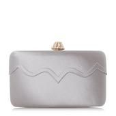 ROMANCE - Scallop And Frayed Edge Satin Clutch Bag