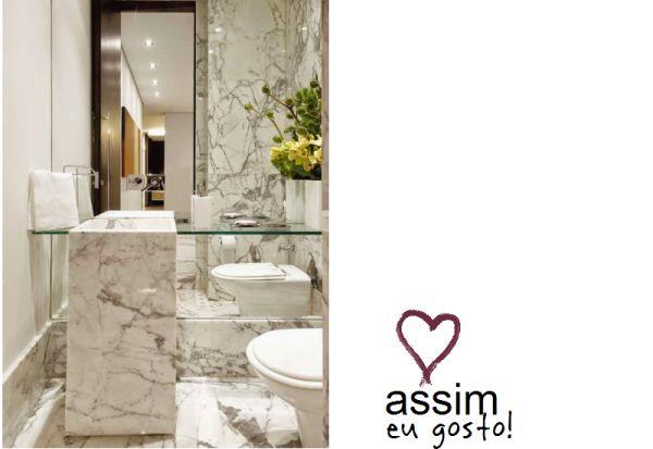 Banheiros Modernos Assim Eu Gosto : Melhores imagens de banheiro com m?rmore no