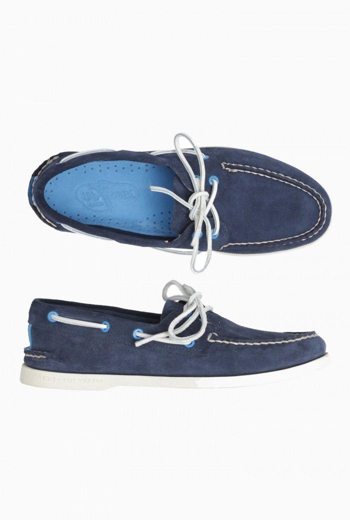 Mens Sperry Suede Deck Shoe- Navy £85.00