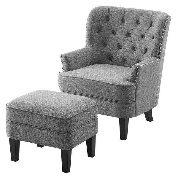 Michalak Cheswood 23 Armchair And Ottoman In 2020 Armchair Comfortable Seating Upholstered Dining Chairs
