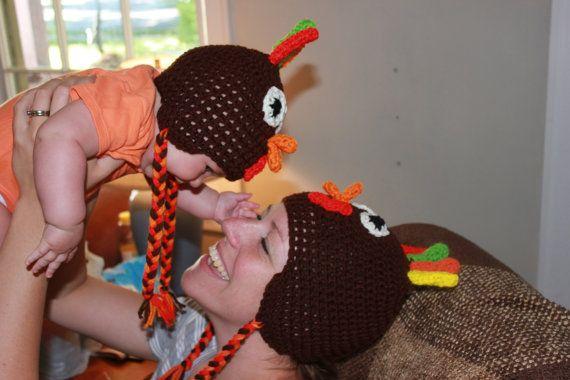 Turkey Trot Hat Turkey Hat for Turkeys Newborn by brandyfrog