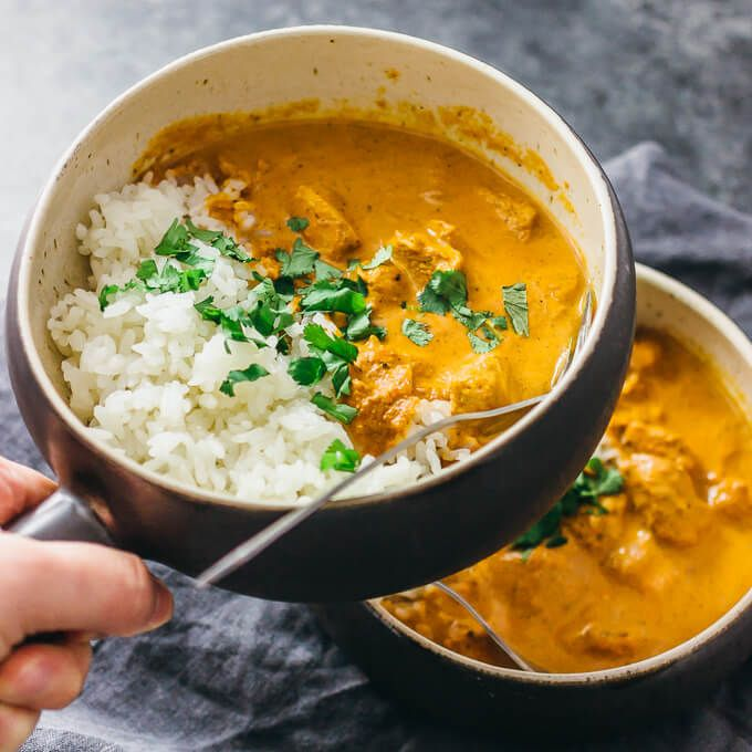This homemade Instant Pot Chicken Tikka Masala recipe is an authentic chicken curry dinner made in the pressure cooker. The restaurant style sauce is the best - creamy & spicy with garam masala. It's a tasty Indian food recipe that's easy, fast, quick, & simple. Great for weeknight dinners, it's also healthy, low carb, keto, and adaptable to whole 30 and paleo using coconut milk and dairy free yogurt for the marinade. #instantpot Serve with traditional sides like Asian basmati rice and naan.