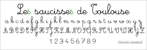 French Handwriting Font Google Search Hand Lettering Fonts French Typography French Cursive