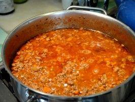 Bolognese Sauce  Recipe courtesy Gabriele Corcos and Debi Mazar  Show: Extra Virgin Episode: Lasagna to the Rescue